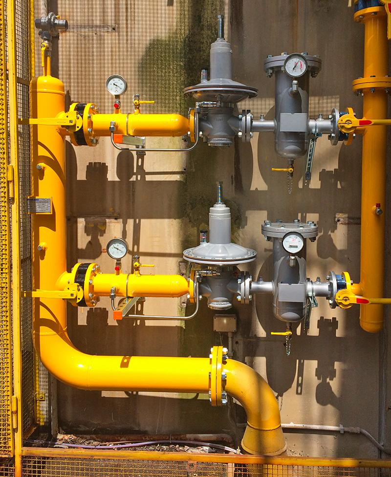Verifica funzionale, manutenzione ordinaria e straordinaria degli impianti per la riduzione della pressione del gas metano